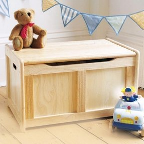 Personalized wooden toy box