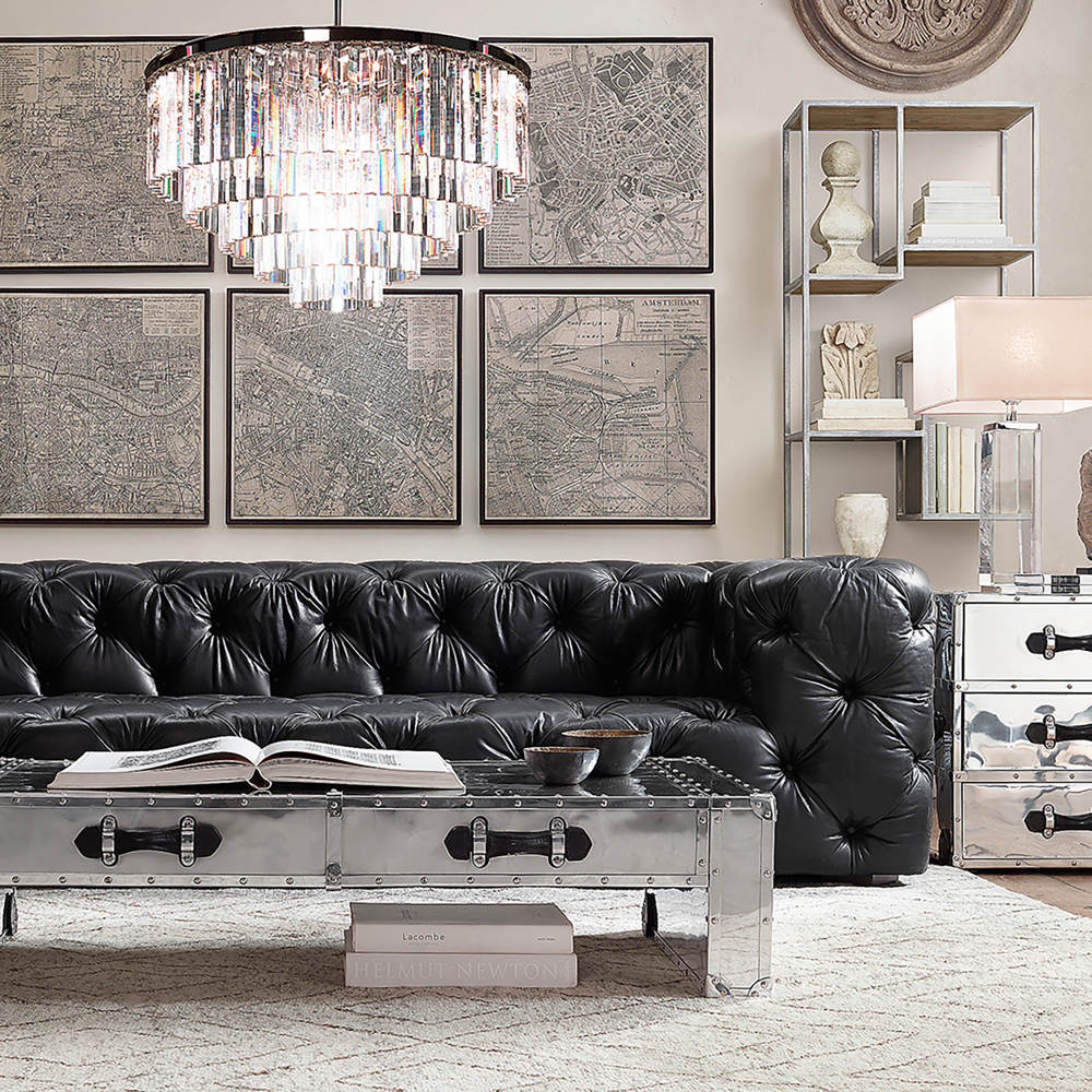 Restoration Hardware Soho Tufted Sofa