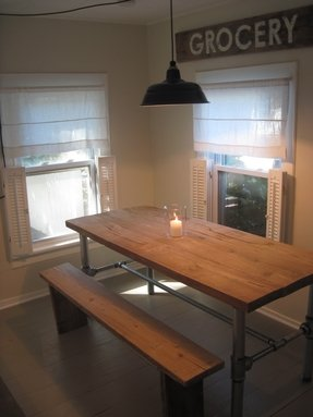 Rustic Wood And Metal Dining Table Foter