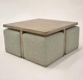 Seating Cubes Furniture Carolinepatter 62 Gl Coffee Table With Ottomans