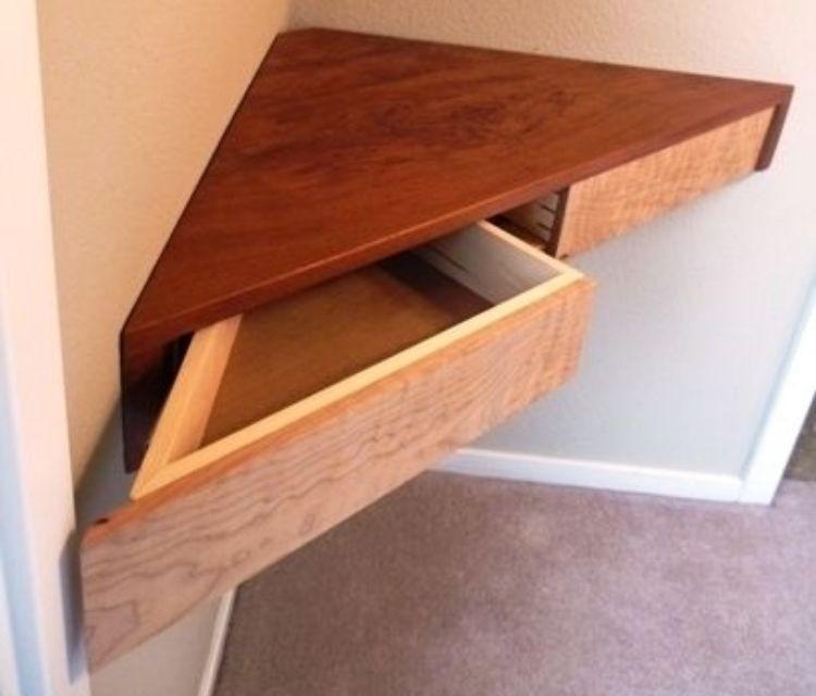 Floating Shelf With Drawer Foter