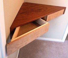 Shelf with drawer
