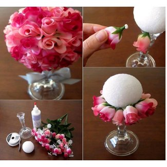 Silk flower centerpieces for tables 1