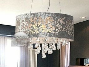 Crystal Chandelier Shade Foter - Chandelier with shades and crystals