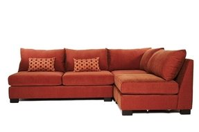 Small scale sectional sofa