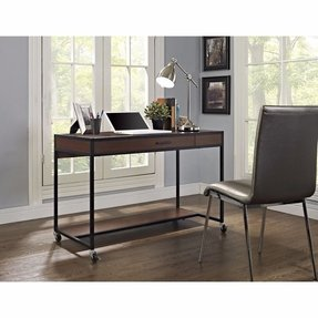 Computer Desks With Wheels Foter - Small student desk ikea