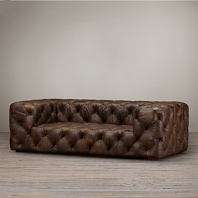 Soho Tufted Leather Sofa 2