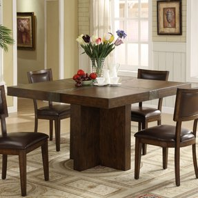 Dining Room Table With Flowers 2