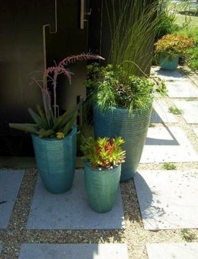 Large ceramic outdoor planters foter tall ceramic planters workwithnaturefo