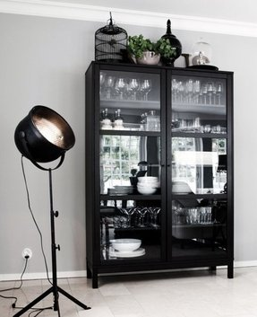 Tall Bookcase With Glass Doors Ideas On Foter