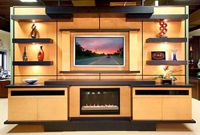 This is a contemporary entertainment center located in our boca