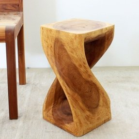 Twisted Oak Table Stool Thai Traditional or Contemporary Style