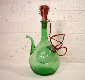 Vintage hand blown wine decanter 1