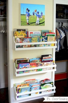 Wall mounted bookshelves for kids 1