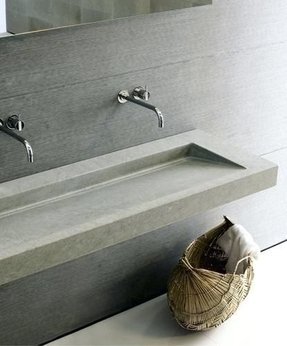 Commercial Bathroom Sinks Unique Eye Catching Grey Marble Mercial Trough  Sink With
