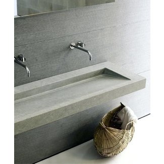 Wall mounted trough sink 2