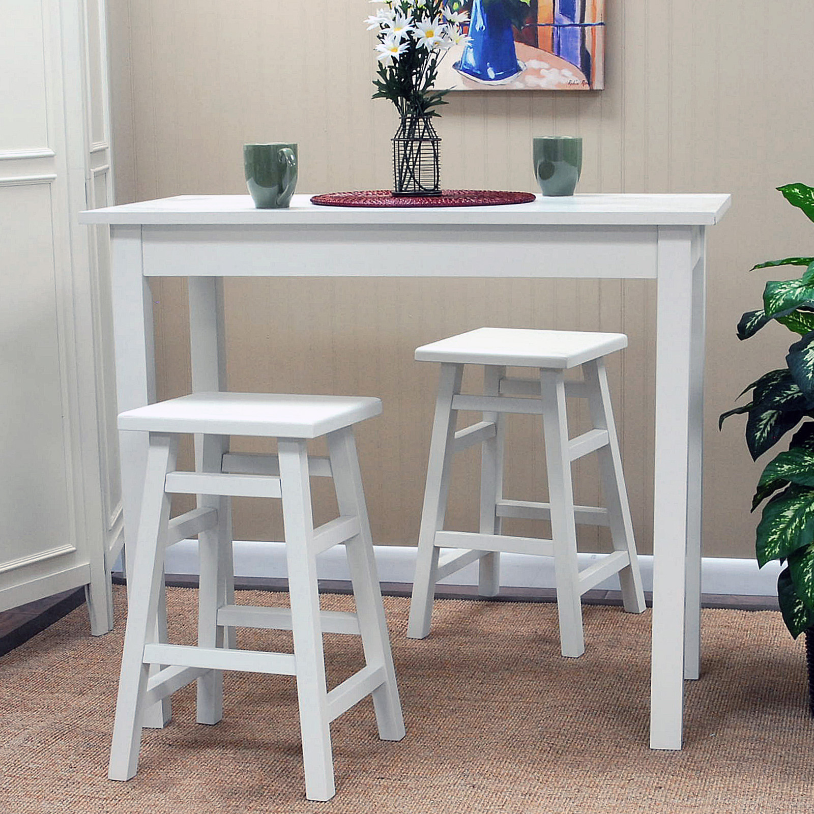 White Pub Table Sets