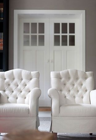 White Tufted Chairs 2