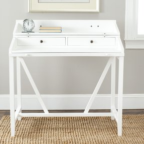 White writing desk with drawers 2