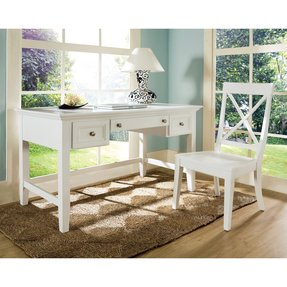 White writing desk with drawers 40