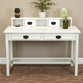 White writing desk with drawers 5