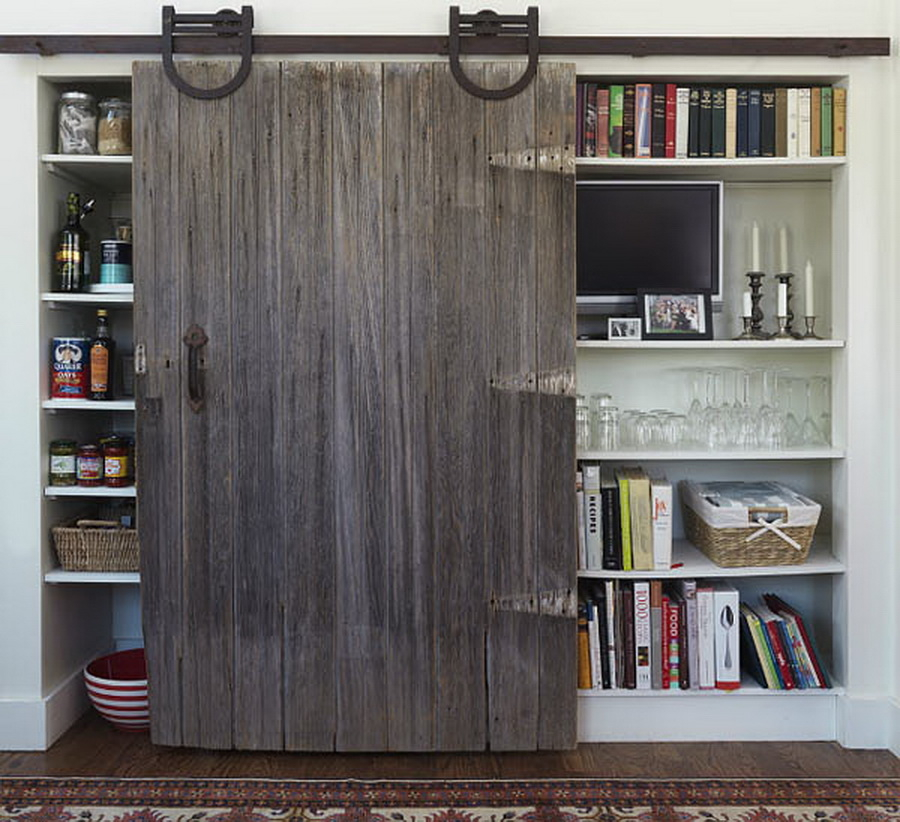 Wood Bookshelves With Doors 1
