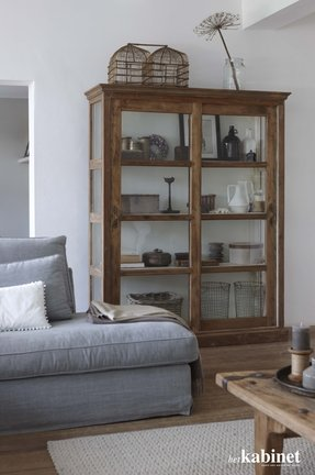 Wood bookshelves with doors 17