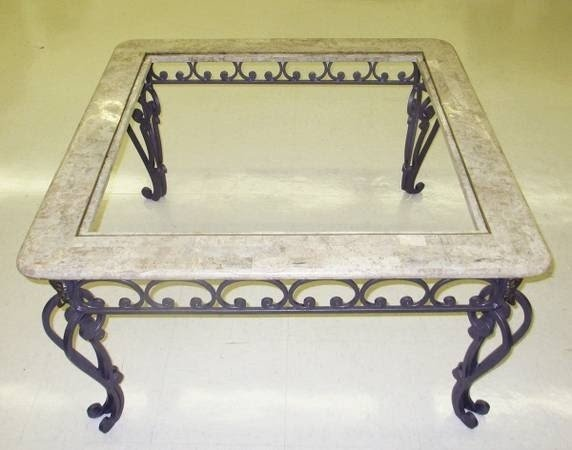 Attirant Wrought Iron Coffee Tables For Sale