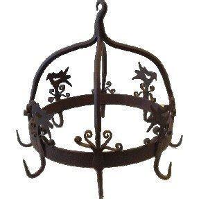 Wrought Iron Pot Rack Hooks 1