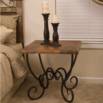 Merveilleux Wrought Iron Side Table