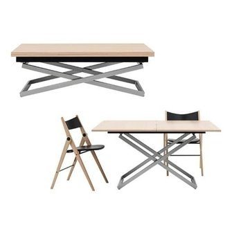 Adjustable height coffee dining table 1