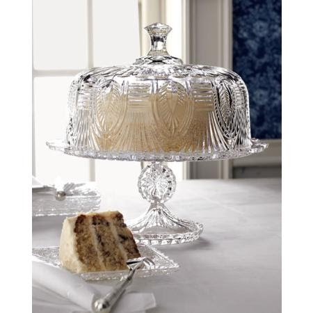 Antique glass pedestal cake stand : antique cake plate with dome - pezcame.com