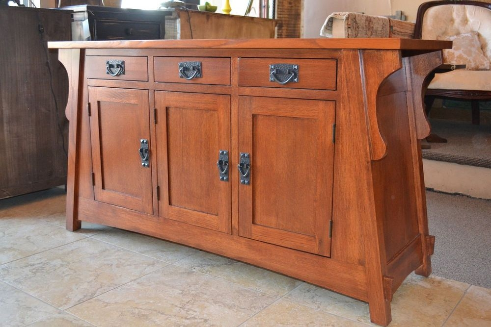 Arts and crafts mission oak sofa table