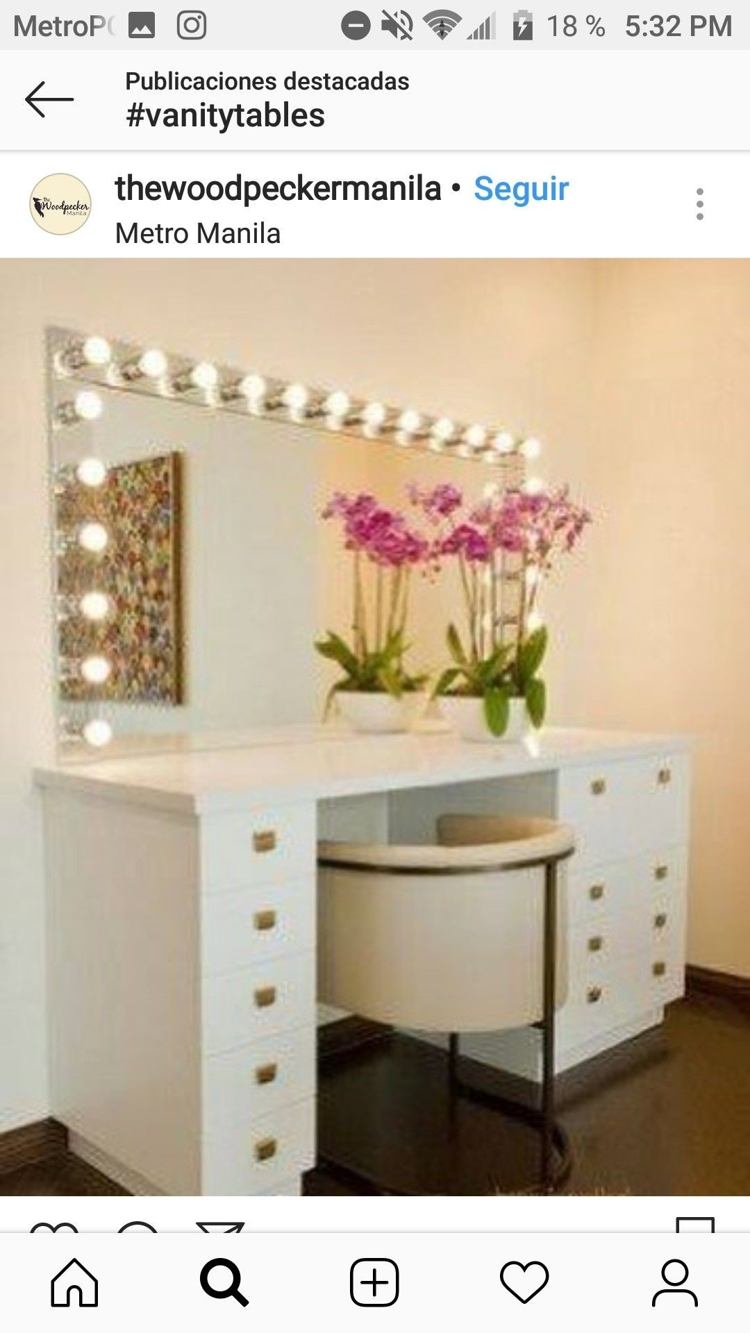 Exceptionnel Bedroom Makeup Vanity With Lights