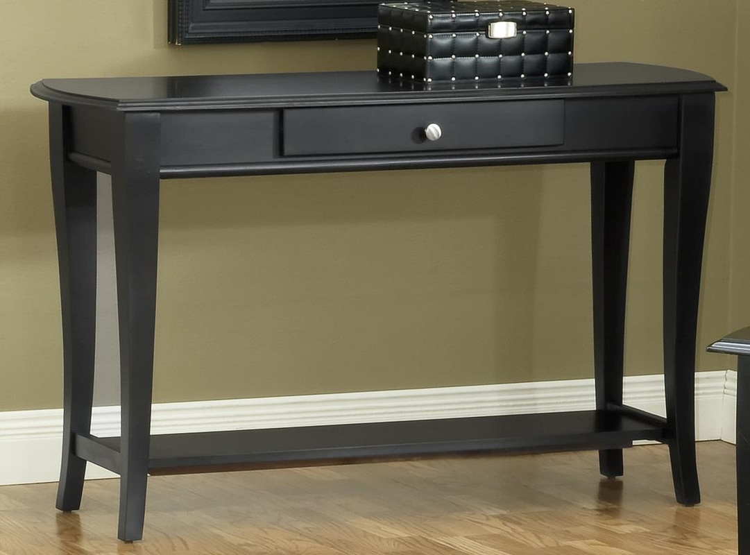 Exceptional Black Sofa Table With Drawers