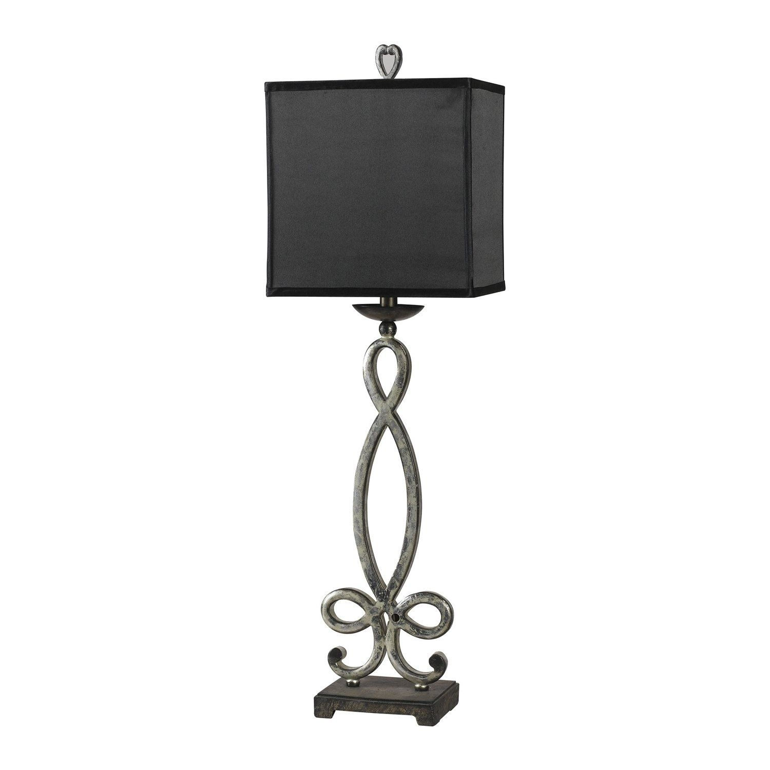 Gentil Buffet Lamps With Black Shades 1