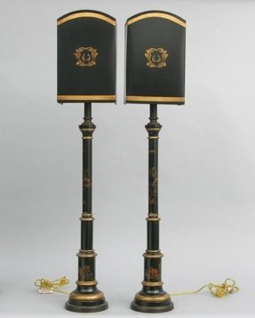 Buffet lamps with black shades 2