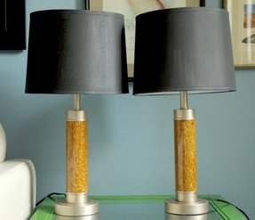 Buffet lamps with black shades 32