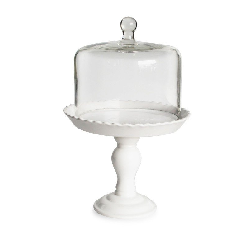 Cake stand with tall dome  sc 1 st  Foter & White Cake Stand With Dome - Foter