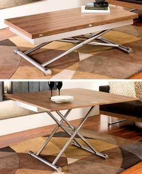 Cool 50 Incredible Adjustable Height Coffee Table Converts To Bralicious Painted Fabric Chair Ideas Braliciousco