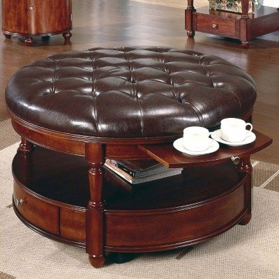Coffee table storage ottoman & Round Coffee Table With Storage Ottomans - Foter