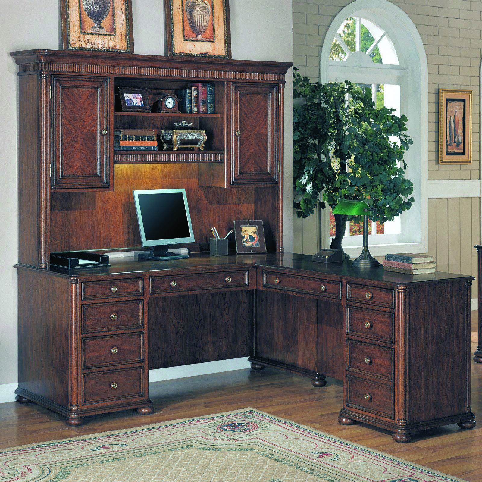Compact Home Office Desk. Corner L Shaped Desk With Hutch Home Office Desks  Compact