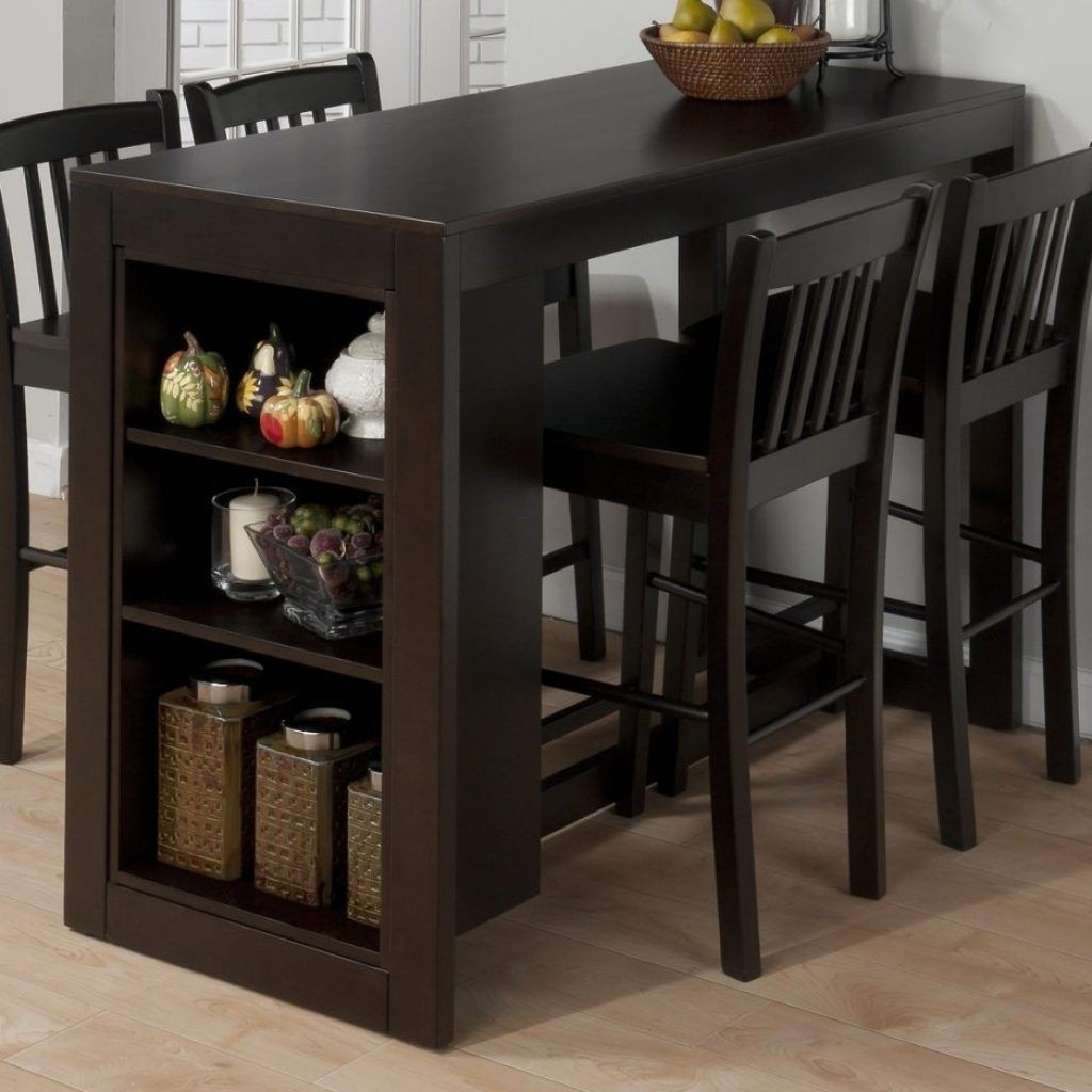 Gentil Counter Height Dining Table With Storage