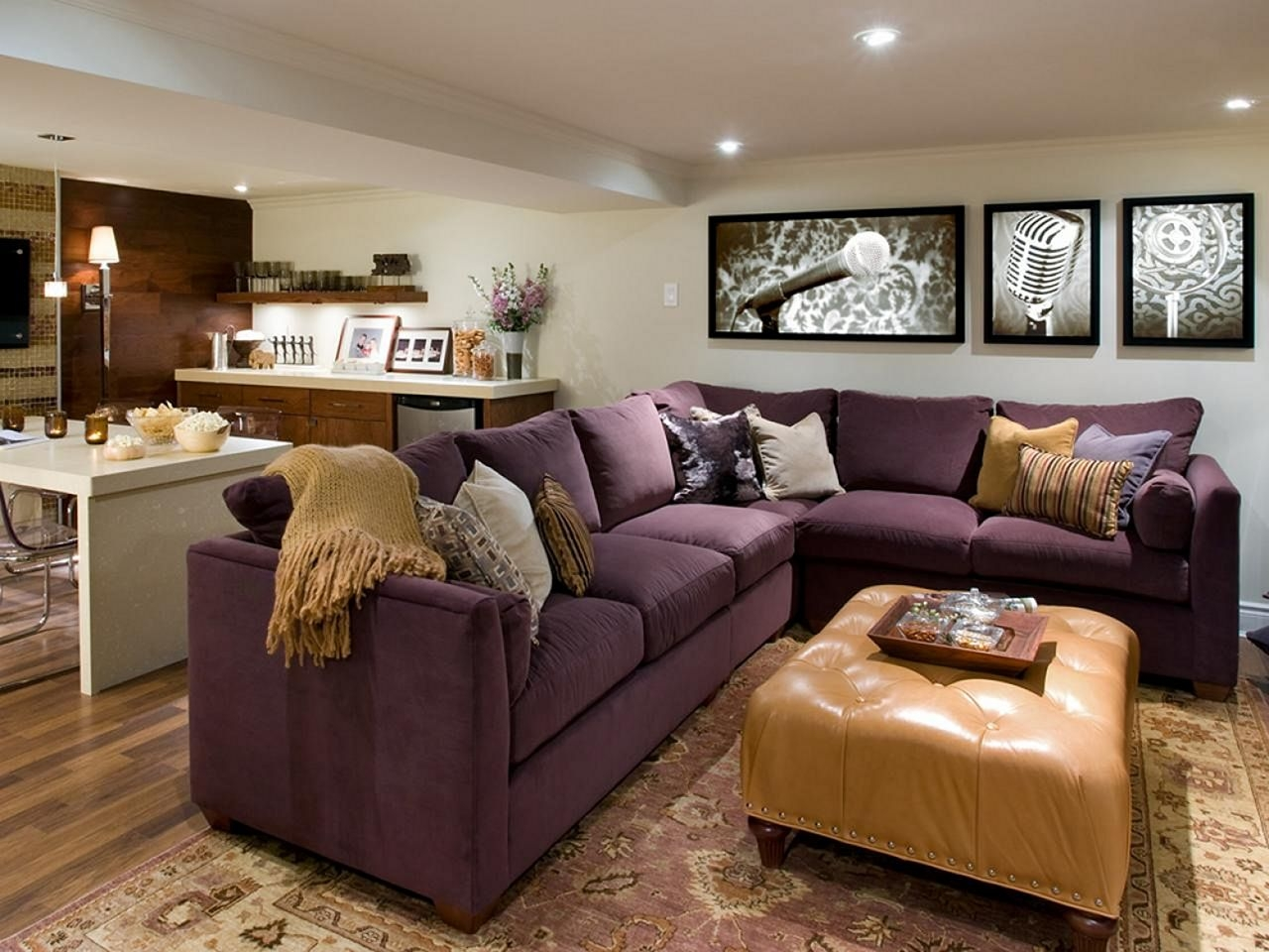 Beau Dark Purple Sofa