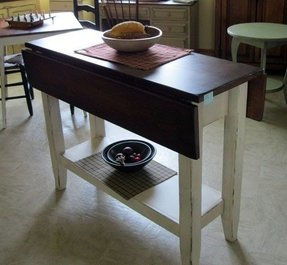 Drop Leaf Kitchen Island Table Foter - Kitchen island with folding leaf