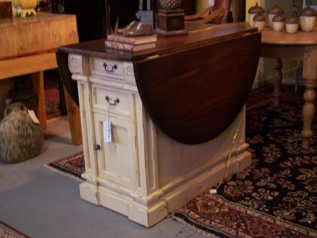 Drop Leaf Storage Table