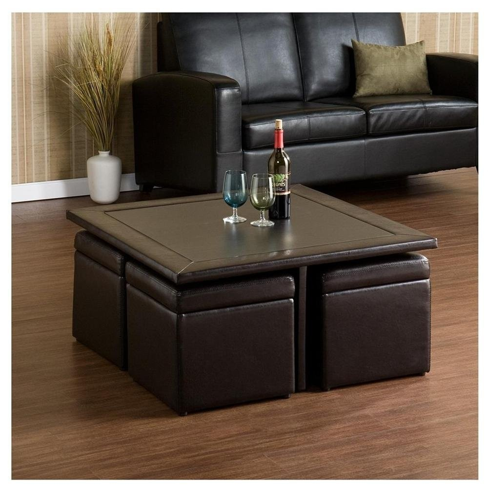 Coffee Table With 4 Storage Ottomans   Ideas On Foter