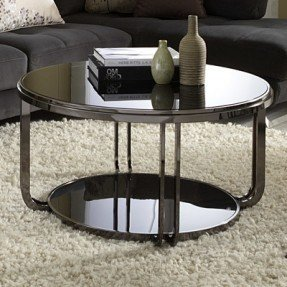 black and chrome coffee table foter. Black Bedroom Furniture Sets. Home Design Ideas