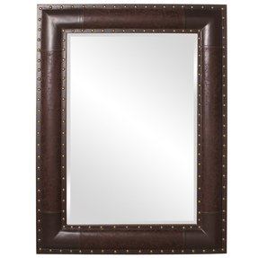 Faux leather mirror 1