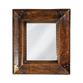 Faux leather mirror 8